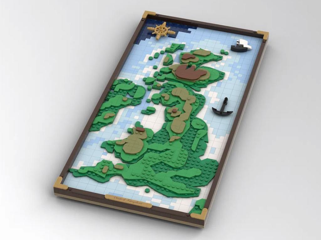 Karte Großbritanniesn aus Lego